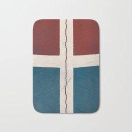 Cracked cement wall Bath Mat
