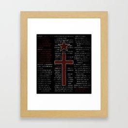 Religion and Politics Framed Art Print