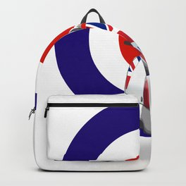 Mod Moped poster Backpack