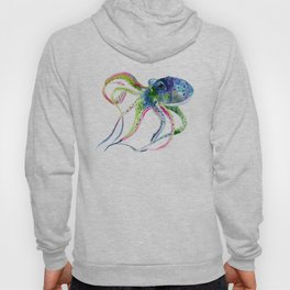 Blue Rainbow Octopus decor octopius lover gift Hoody