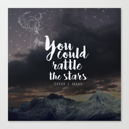 You could rattle the stars (stag included) Canvas Print