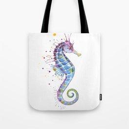 Seahorse: Purple Tote Bag