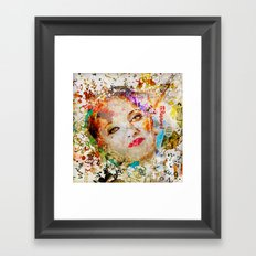 Retro Woman Framed Art Print