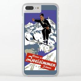 Winter in Zweisimmen Schweiz Clear iPhone Case