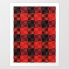 Pixel Plaid - Lumberjack Art Print