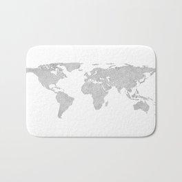 world map poly geometric Bath Mat