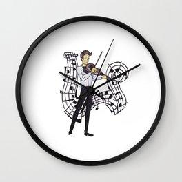 La Viola - The Violin Maestro Wall Clock