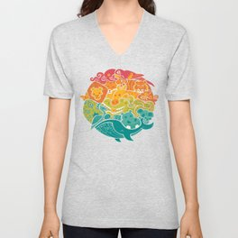 Animal Rainbow Unisex V-Neck