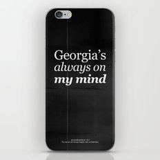Georgia's always on my mind iPhone & iPod Skin