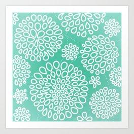 Peppermint Dandelions Art Print