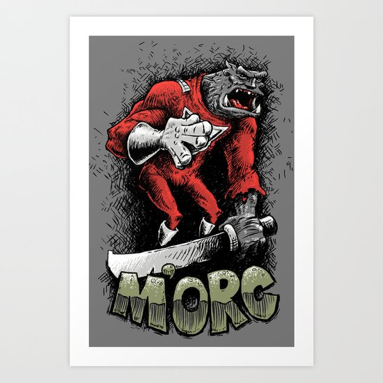 m'orc from orc Art Print