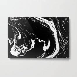 Black liquid ink 8 Metal Print