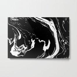Black liquid ink 8 Metal Print