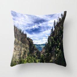 Hanging Lake Trail Throw Pillow
