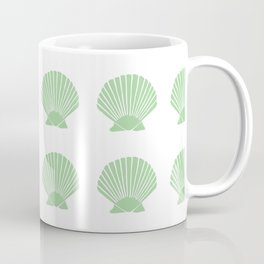 Mint Seashell Coffee Mug