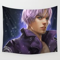 dragonball Wall Tapestries featuring Trunks by KlsteeleArt
