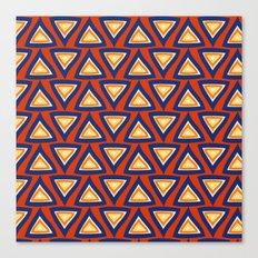 Blue Orange Triangles Canvas Print