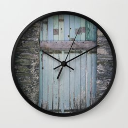 Old Blue Door II Wall Clock