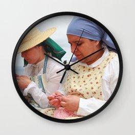 Women making handicraft Wall Clock