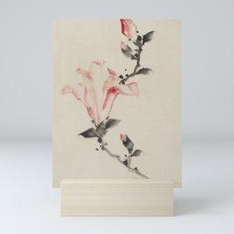 Pink Blossom on a Stem, Japanese fine art Mini Art Print