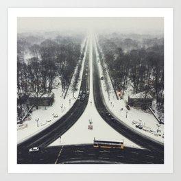 first we take manhatten than we take berlin II - winter Art Print