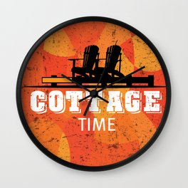 Cottage Time Wall Clock