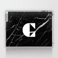 Black Marble - Alphabet C Laptop & iPad Skin