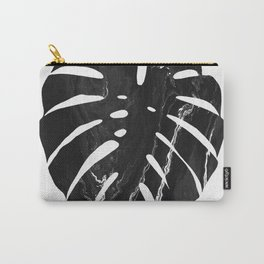 Monstera leaf, Print, Scandinavian, Modern, Wall Art, Tropical Carry-All Pouch
