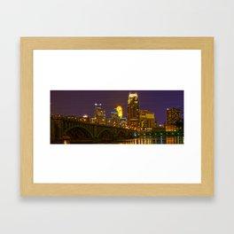 Stone Arch Bridge - Minneapolis MN Framed Art Print