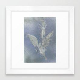 Feather leaves Framed Art Print