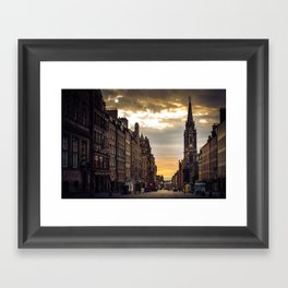 Royal Mile Sunrise in Edinburgh, Scotland Framed Art Print