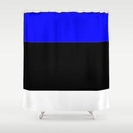 Flag of estonia 2-estonian,baltic,tallinn,tartu,eesti,balti,slav,viking,baltico,parnu Shower Curtain