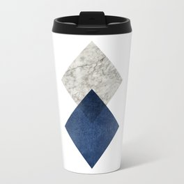 Marble blue navy abstract minimalist Travel Mug