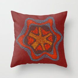 Growing - Clematis - plant cell embroidery Throw Pillow