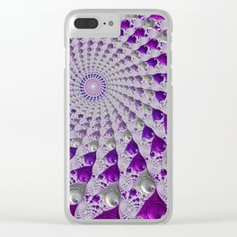 Tunnel Vision Purple Clear iPhone Case