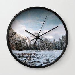 Yosemite Winter Wonderland Wall Clock