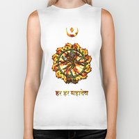 shiva Biker Tanks featuring Shiva  by Khana's Web