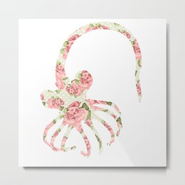 Floral Facehugger Metal Print