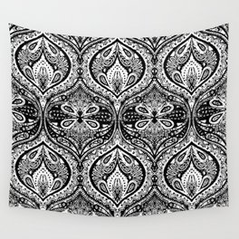 Simple Ogee Black & White Wall Tapestry