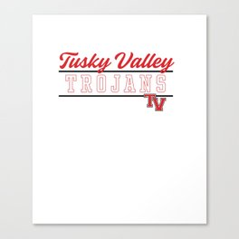 Tuscarawas Valley High School Trojans Pullover Hoodie C4 Canvas Print