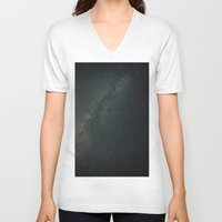 milky way V-neck T-shirts featuring Milky Way  by Mikography