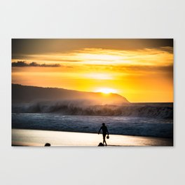 Sunset walk in Hawaii Canvas Print