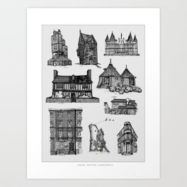 HP Landmarks Art Print