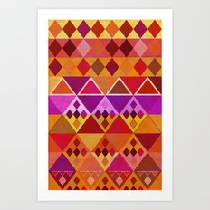 Fire Diamond Pattern Art Print