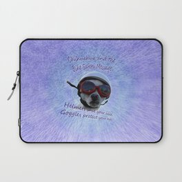 Chihuahua and the Bike Safety Message Laptop Sleeve