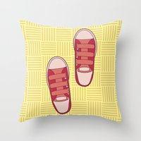 dorothy Throw Pillows featuring dorothy  by freshinkstain