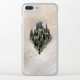Cipressi toscani Clear iPhone Case