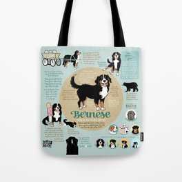 Bernese Mountain Dog Infographic Tote Bag