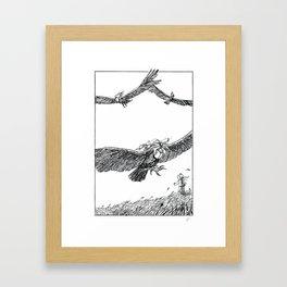 October Children #8: Blustery Day Framed Art Print