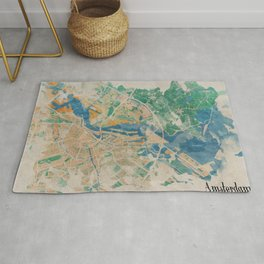 Amsterdam, the watercolor beauty Rug